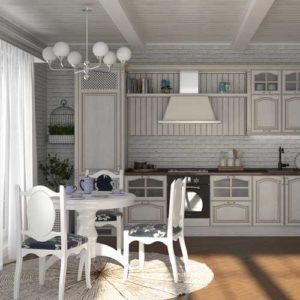 Кухня Жаклин Виктория белая патина