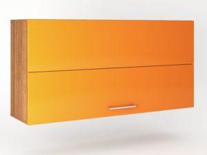 Шкаф навесной 2 двери складные с механизмом Blum HF