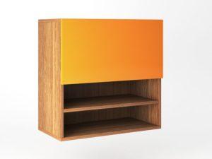 Шкаф навесной 1 дверь распашная с Tip-On + ниша вертикально