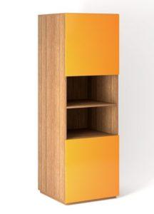 Шкаф напольный 2 двери распашные с Tip-On + ниша