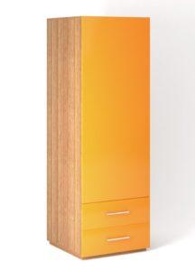 Шкаф напольный 1 дверь распашная с Tip-On + 2 ящика