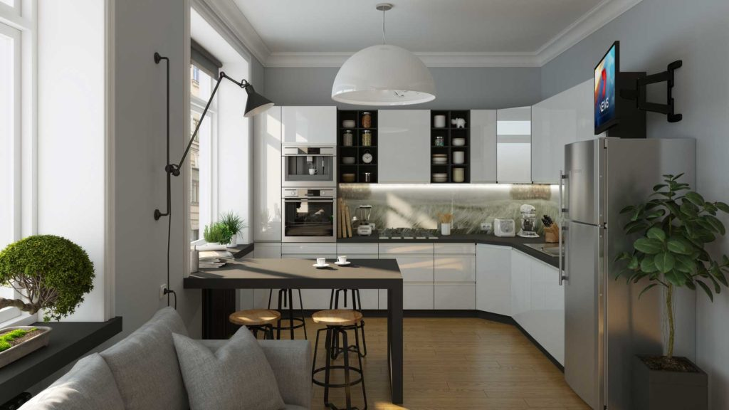 кухня модерн Анжела Алюмано Дуе
