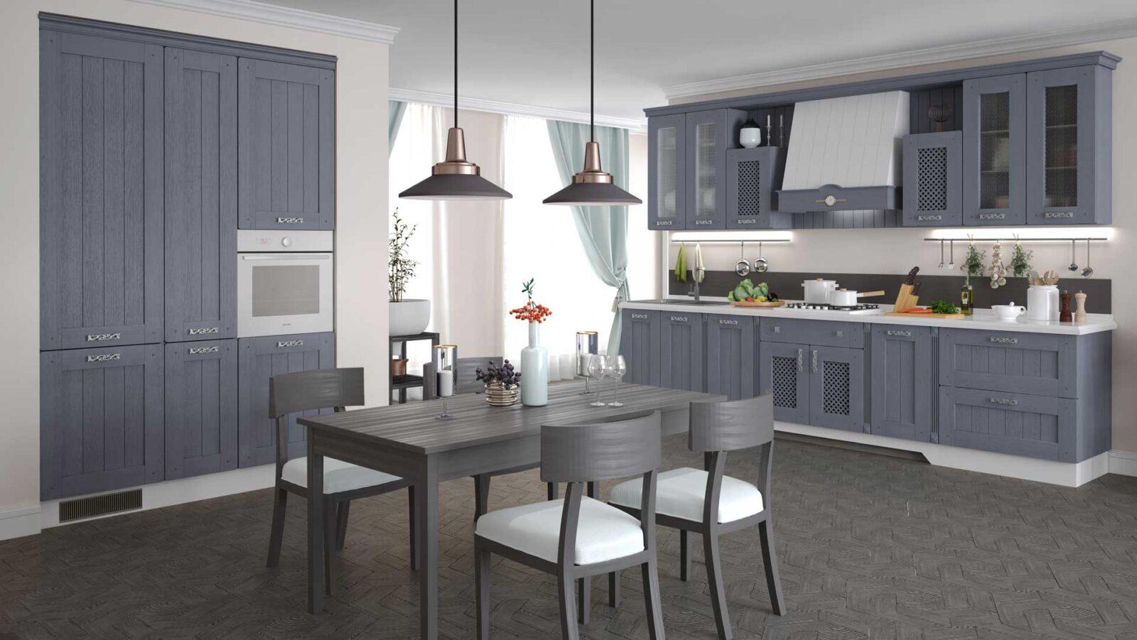 кухня жаклин азалия серый