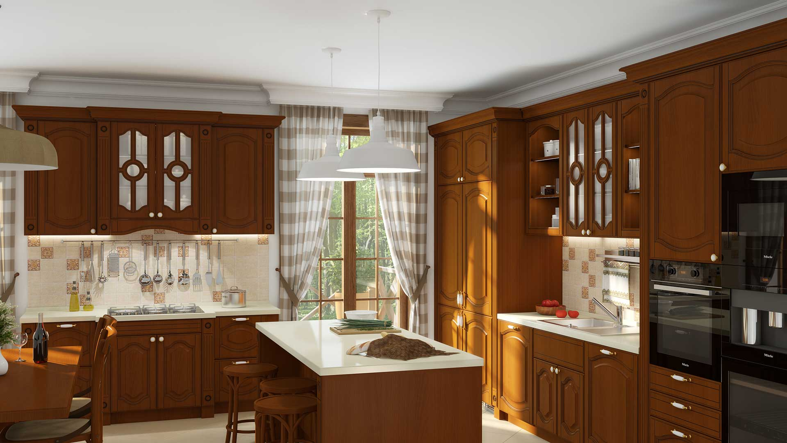 кухня валенсия флоренция чёрри патина